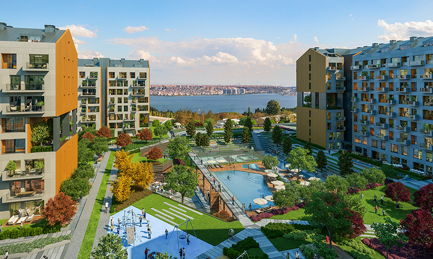 sea views near the new canal of istanbul