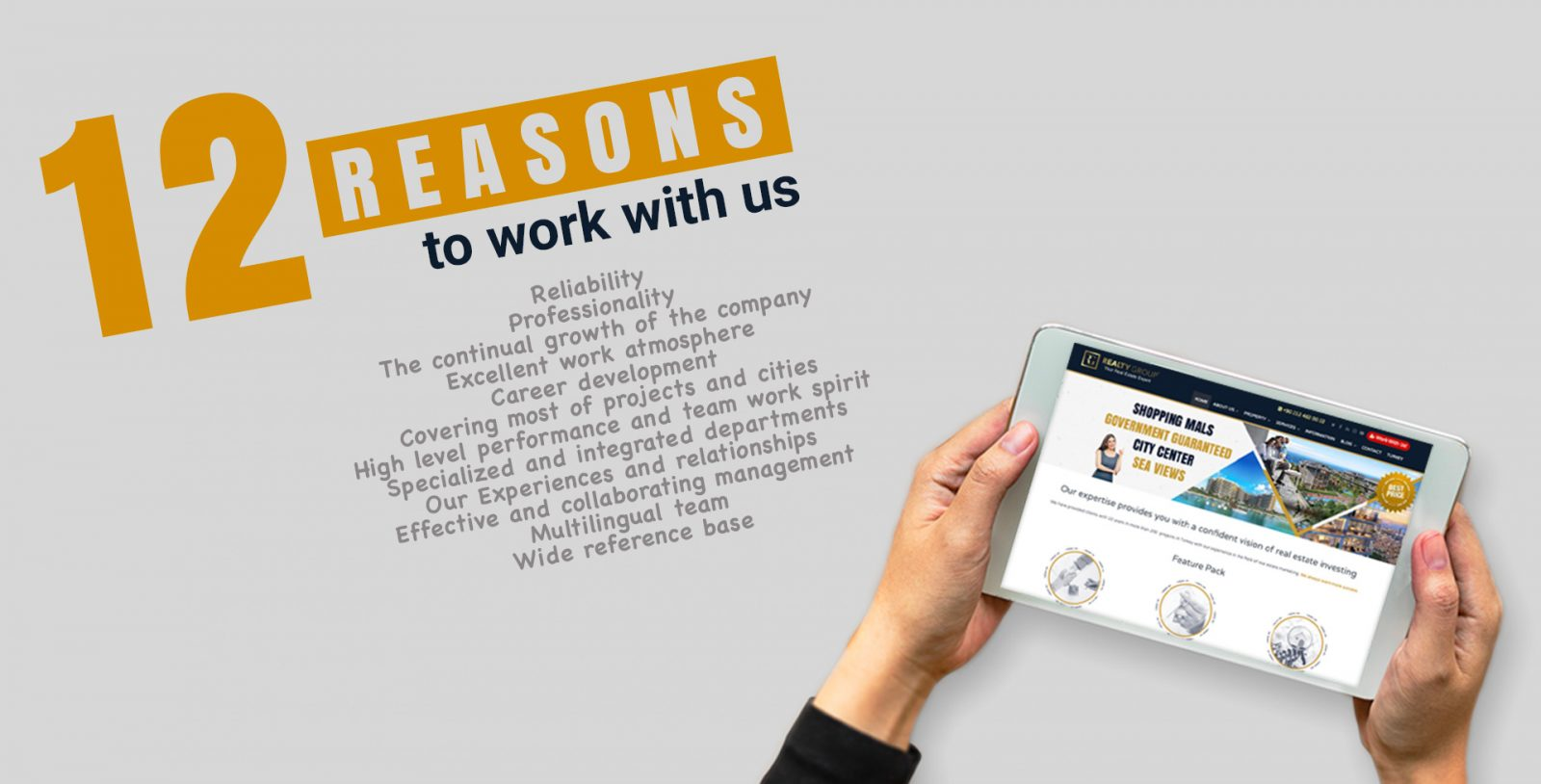 , 12 Reasons to work with us