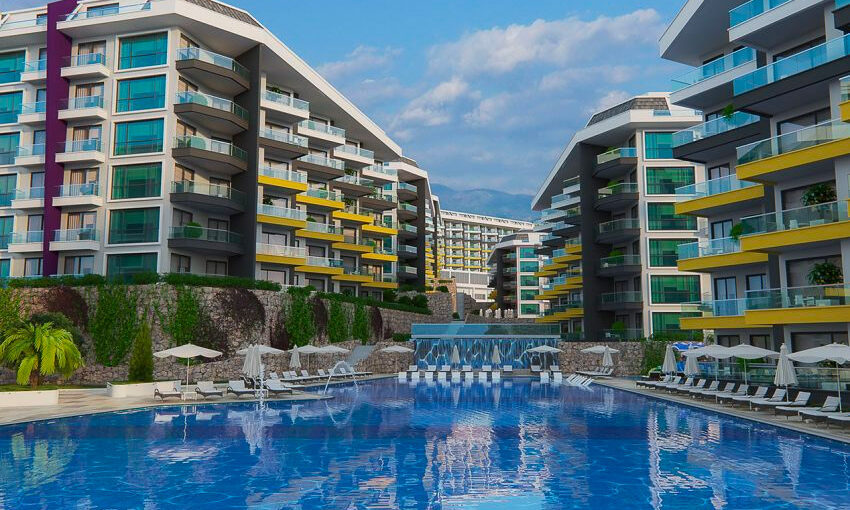 luxury residency in alanya with fantastic sea view