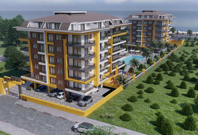 new-residency in alanya at first sea line