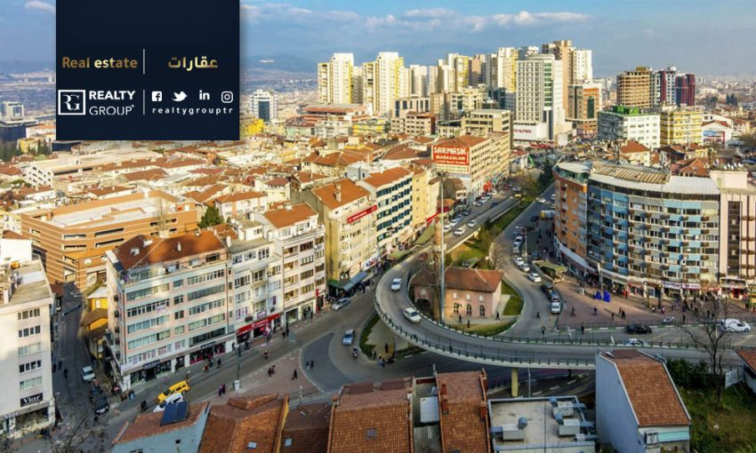 Real Estate Price in Bursa, The Average Real Estate Price in Bursa is 280.260 TL, the Payback Period is 19 years.