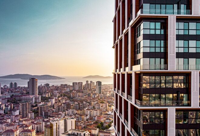 sea view housing project at asian side of istanbul