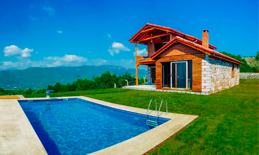 luxury stone villa with amazing iznik lake view
