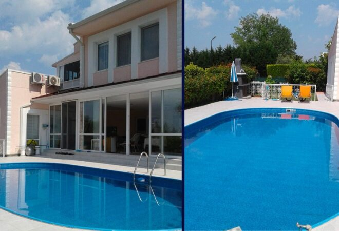 luxury villa with a private swimming pool in mudanya bursa