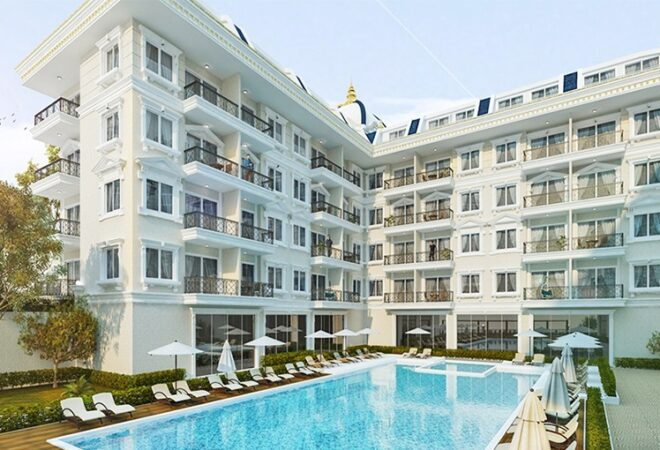 affordable apartments in a compound in alanya