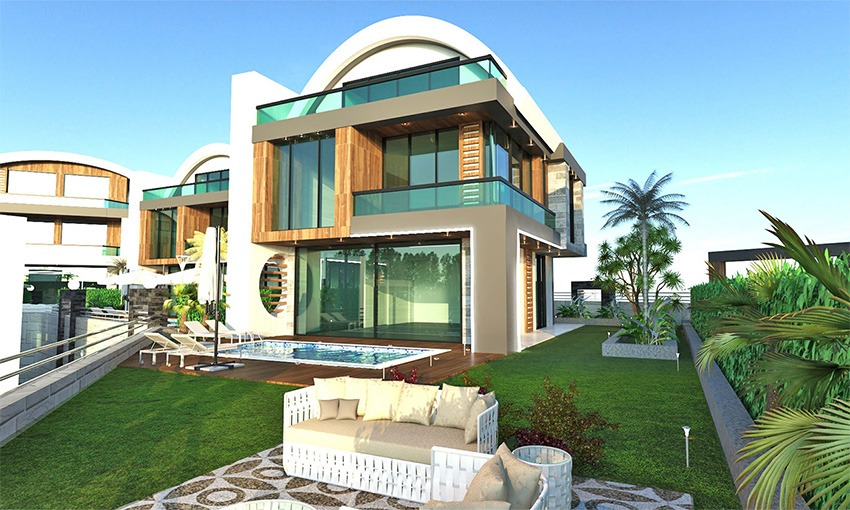 amazing sea view villas in alanya kargicak