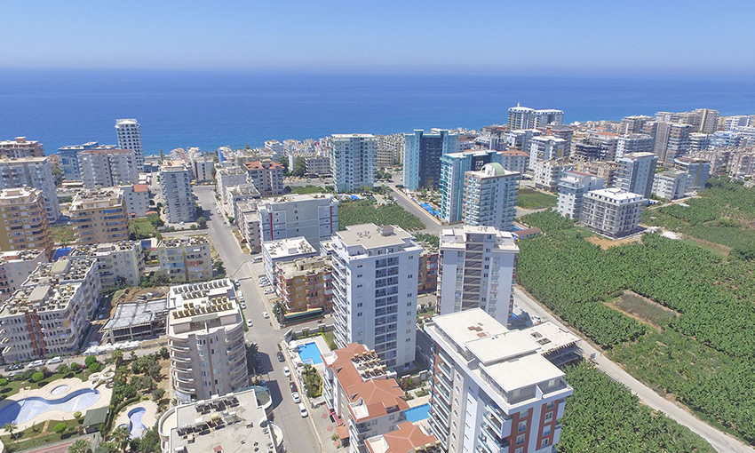apartments close to the beach in mahmutlar alanya