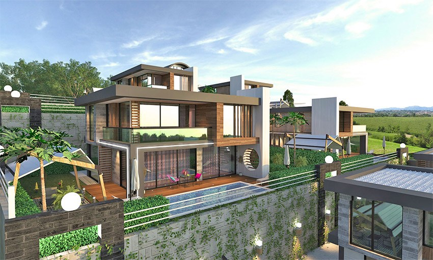 luxury detached villas in alanya kargicak
