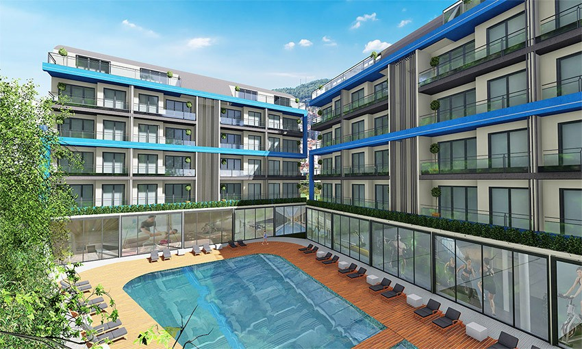 special residential project in oba alanya