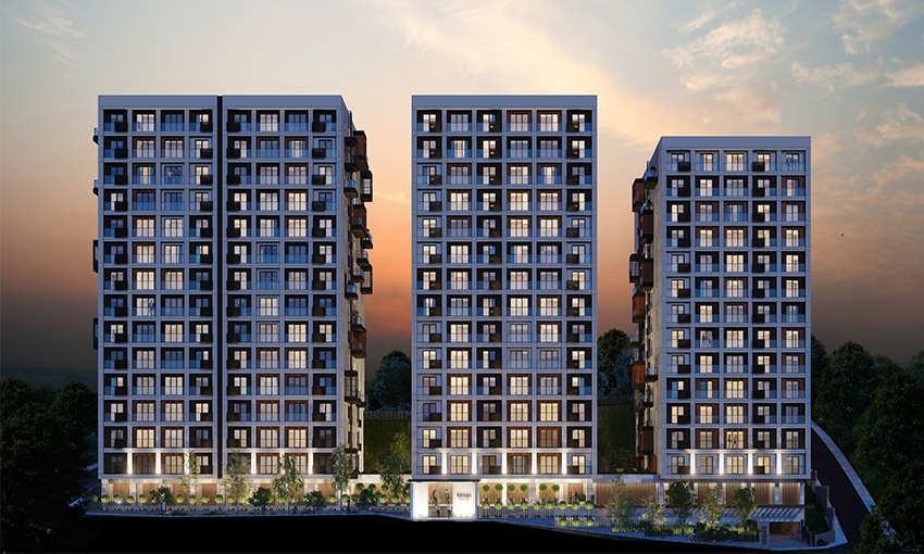 apartments located between metro and metrobus stations