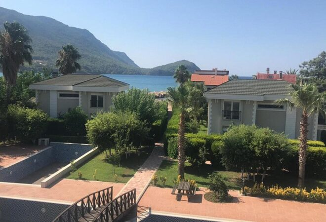 furnished villa beside the sea with pool tennis court