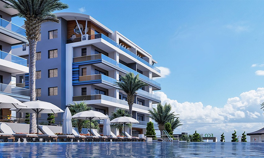 luxurious apartments with sea view in alanya kargicak