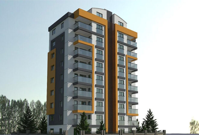 luxury apartments away 700 meters from the sea in antalya