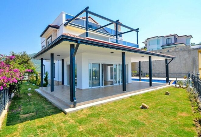 panoramic sea view detached villa in alanya kargicak