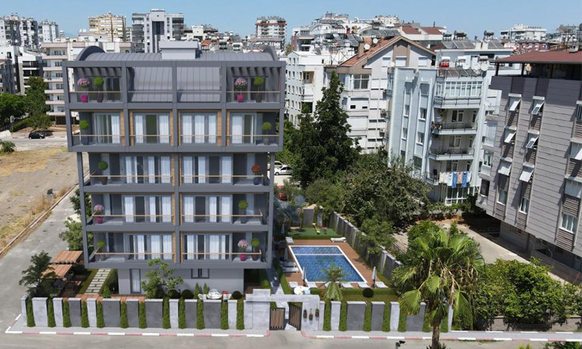 apartments far away 500 meters only from the sea in antalya