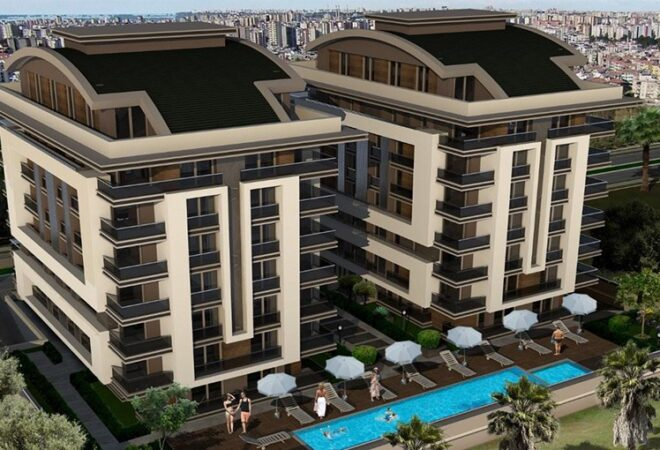 luxury apartments in a residential complex in antalya