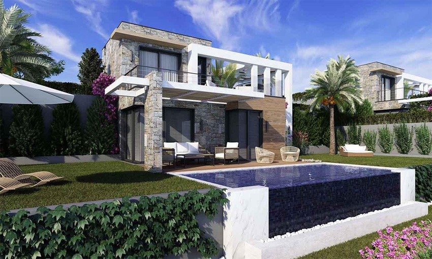Luxury residential villas in the city of bodrum
