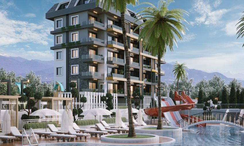 exclusive complex with captivating sea views in alanya