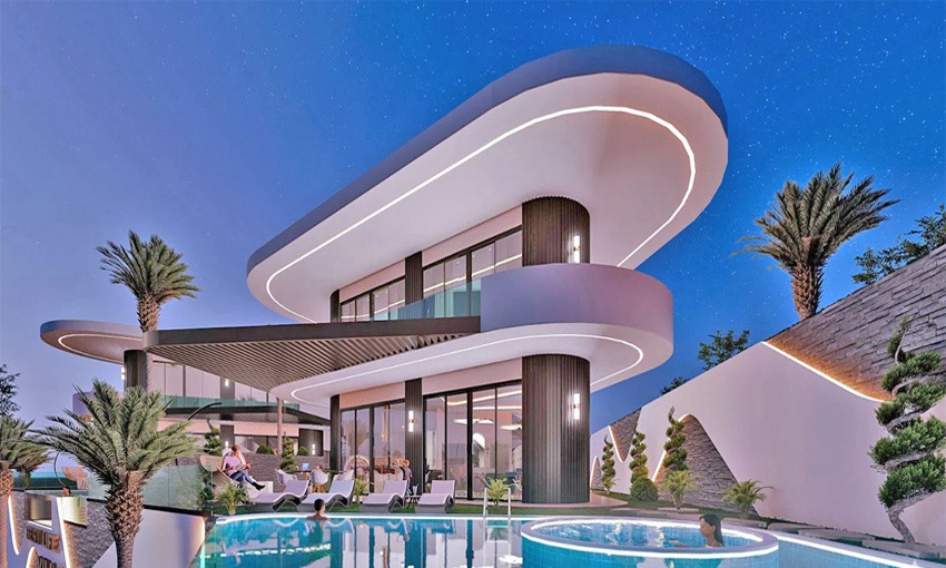 exclusive villas in alanya with luxurious sea view