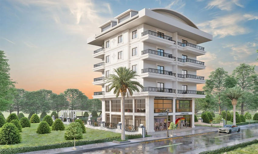 fancy complex with walking wistance to alanya beaches