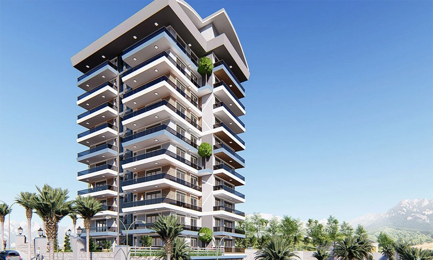 modern flats in alanya with marvelous sea views