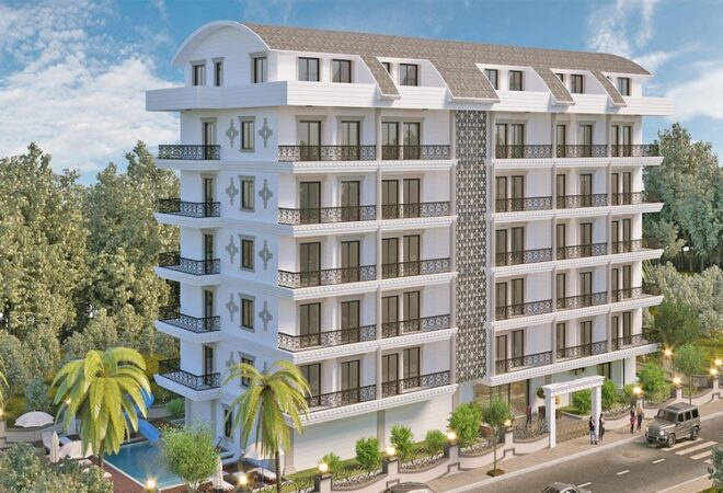stylish flats complex suitable for investment in alanya