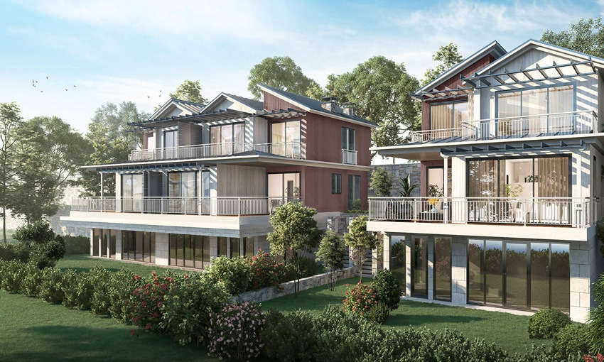 Luxury villas with green life standards in istanbul city